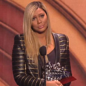 Tamar Braxton Cries While Accepting Soul Train Award For 'Love And War'