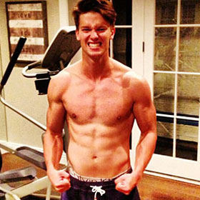 Patrick Schwarzenegger Shows Off Six Pack Abs In Twitter Photo