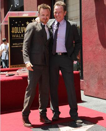 Aaron Paul And Bryan Cranston