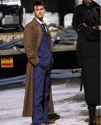 David Tennant On 'Doctor Who' Set