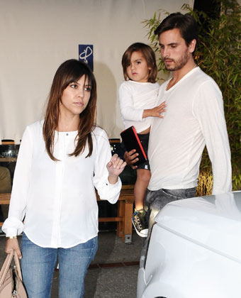 Kourtney Kardashian And Family