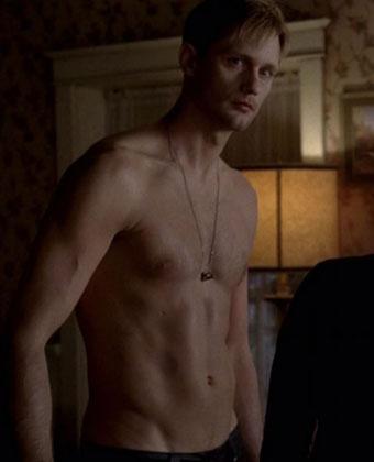 Alexander Skarsgard Shirtless On 'True Blood'