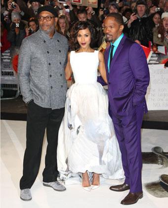 Kerry Washington With Samuel L. Jackson and Jamie Foxx