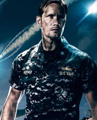 Alexander Skarsgard On 'Battleship' Poster
