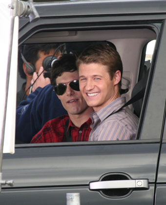 Adam Brody And Ben McKenzie On 'The OC' Set