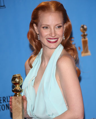 Jessica Chastain At The Golden Globes