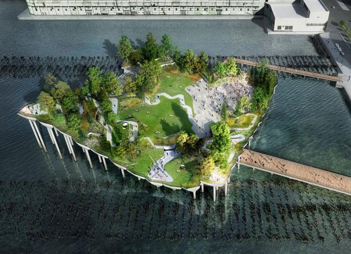 Barry Diller And Diane von Furstenberg Pledge $130 Million To Build 'Floating Park' On Hudson River