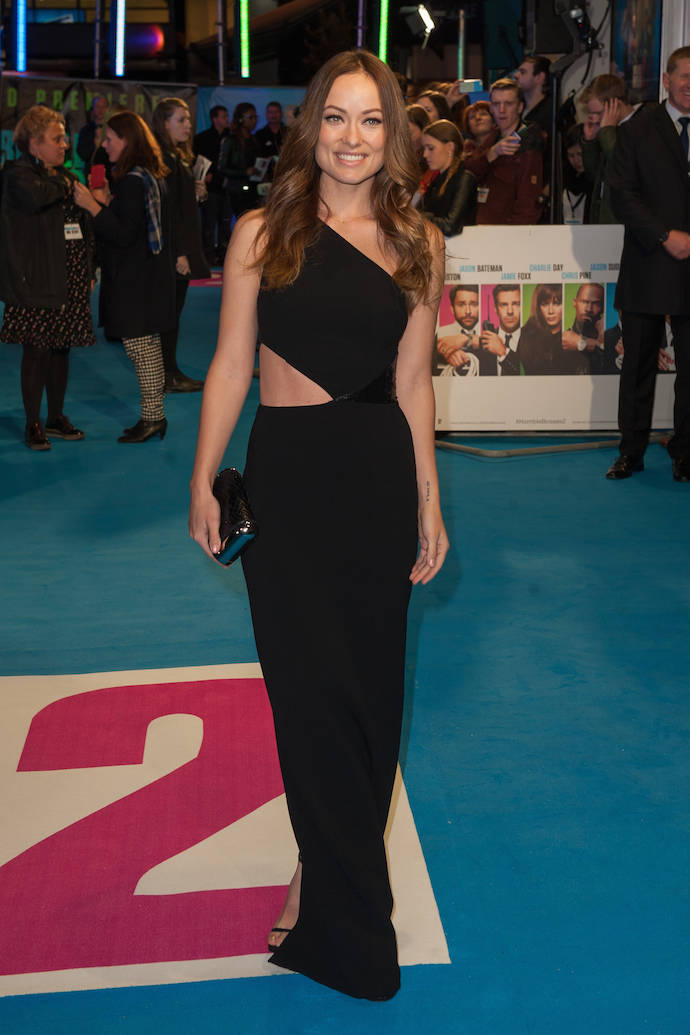 Look Of The Day Olivia Wilde Stuns In Cut Out Black Gown At