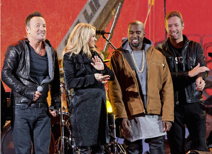 World AIDS Day Concert In Times Square Features U2, Kanye West, Chris Martin, Bruce Springsteen & Carrie Underwood