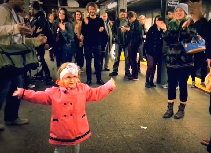 Little Girl Starts A Dance Party At NYC Subway Station [WATCH]