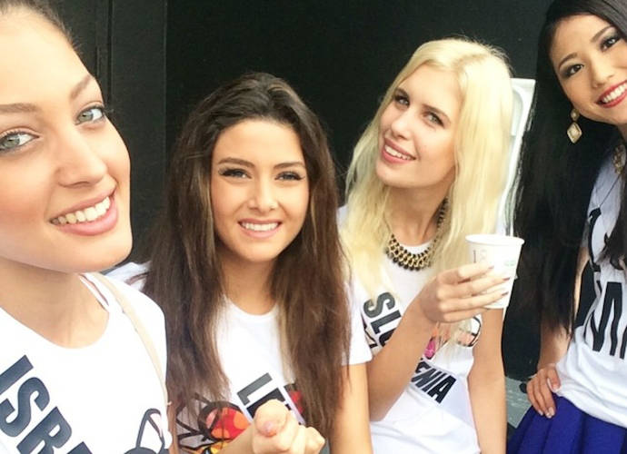 Miss Lebanon Saly Greige And Miss Israel Doron Matalon Selfie Causes Controversy