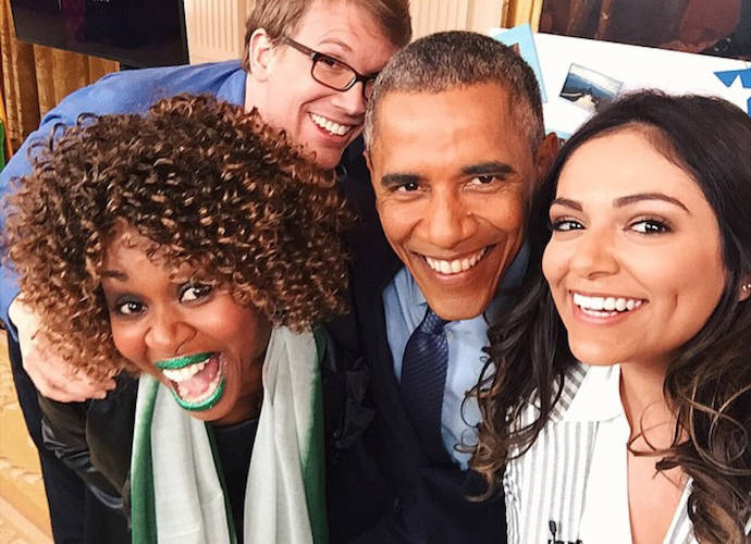 YouTuber GloZell Green Gives President Obama Green Lipstick For FLOTUS