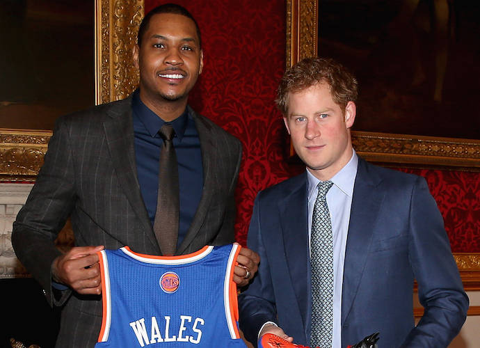 Prince Harry Meets NBA Star Carmelo Anthony
