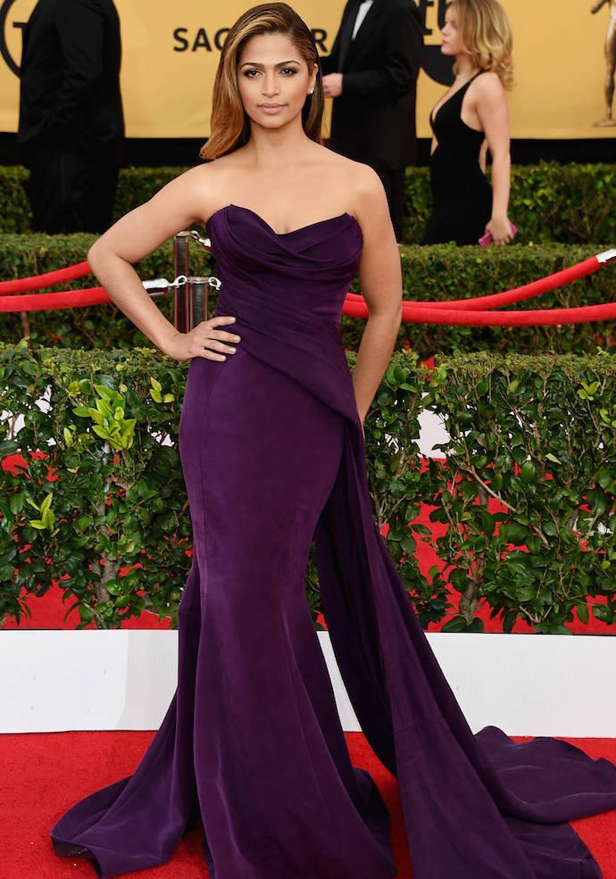 SAG Awards 2015 Best Dressed: Camila Alves In Donna Karan