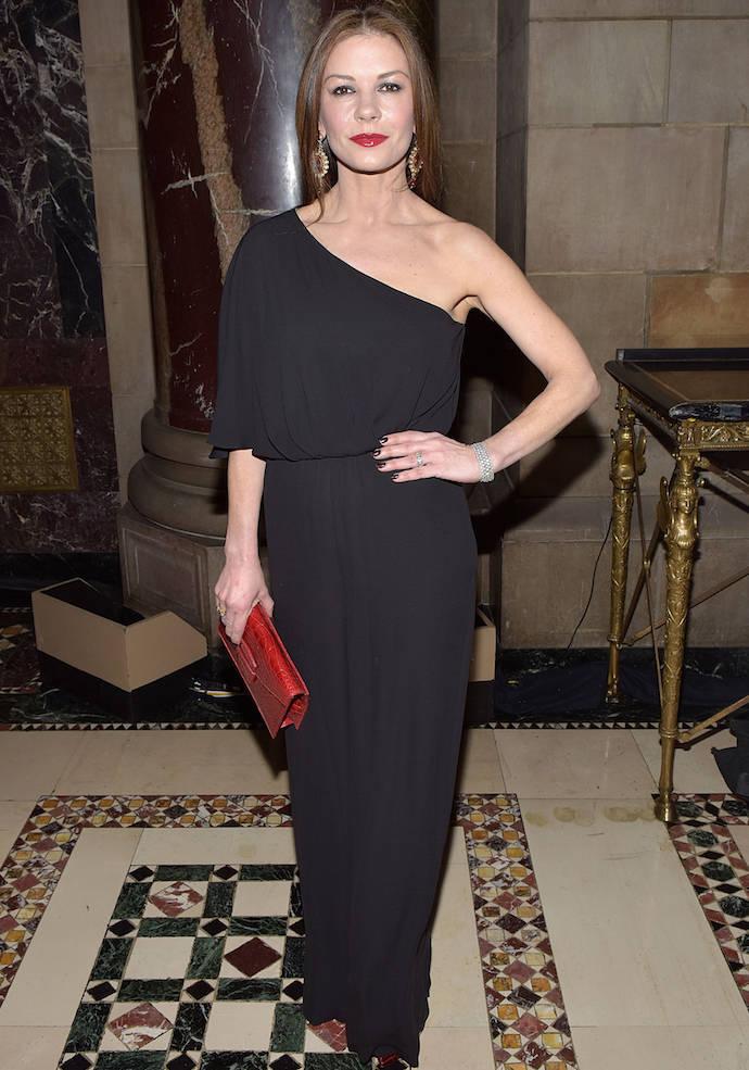 Catherine Zeta-Jones Dons Black Jumpsuit In Rare Public Appearance With Husband Michael Douglas