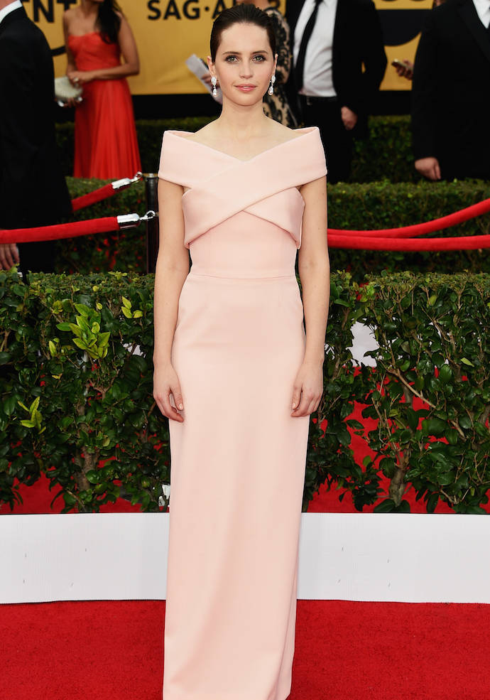 SAG Awards 2015 Best Dressed: Felicity Jones In Balenciaga