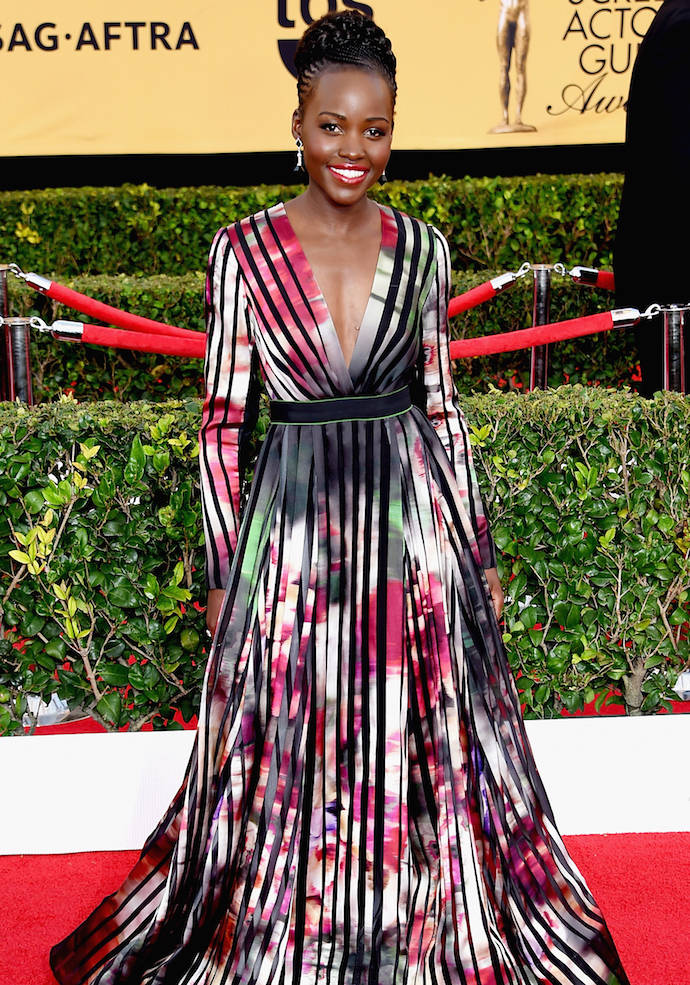 SAG Awards 2015 Best Dressed: Lupita Nyong'o's Watercolor Elie Saab Gown