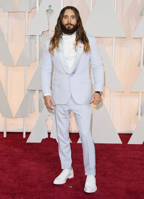 Get The Look For Less: Jared Leto's Blue Suit Oscars 2015