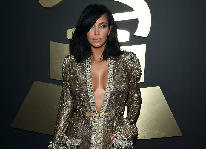 Get The Look: Kim Kardashian's 2015 Grammy Awards Sexy Gown