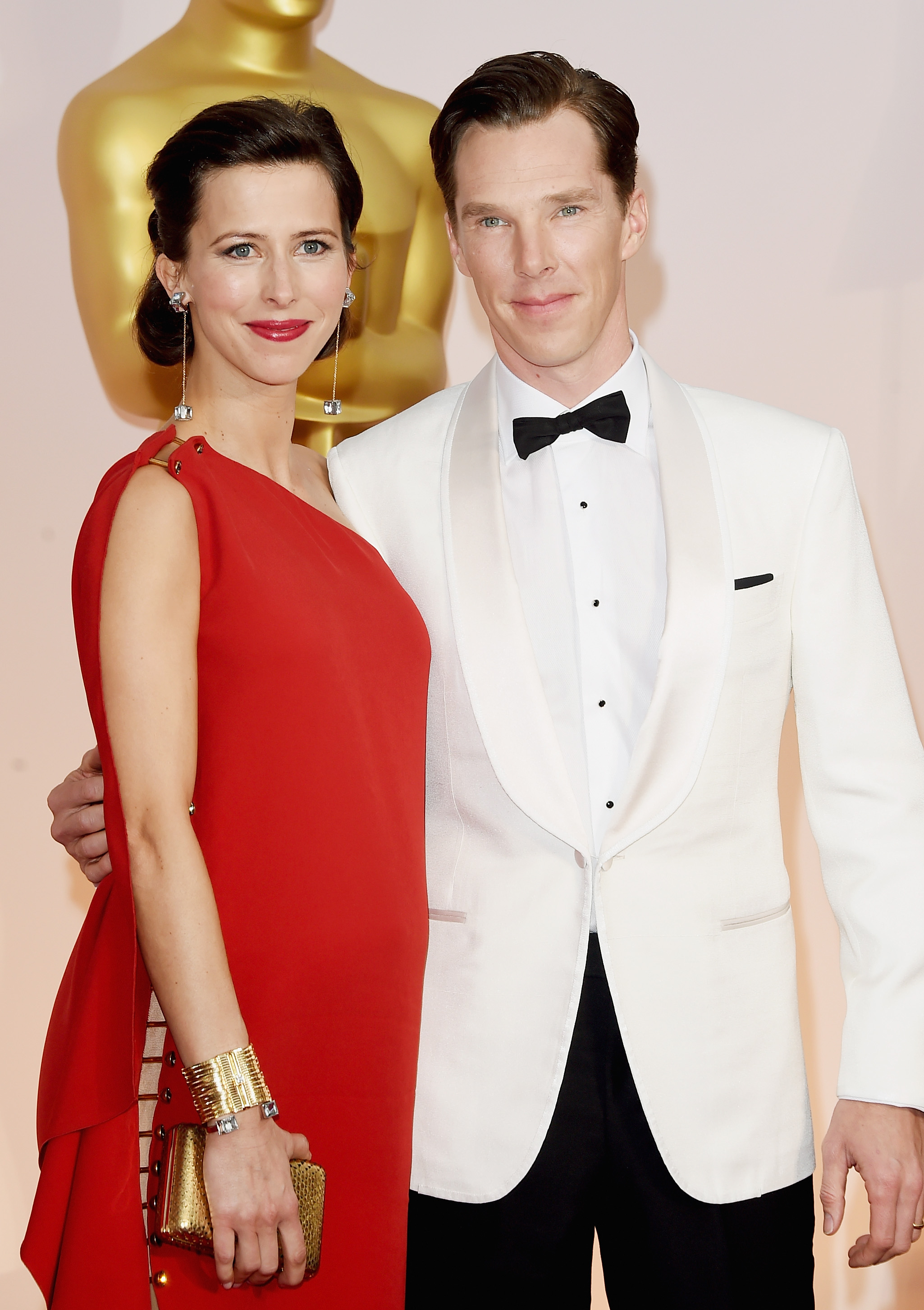 Get The Look: Benedict Cumberbatch And Wife Sophie Hunter's Oscars 2015 Outfits