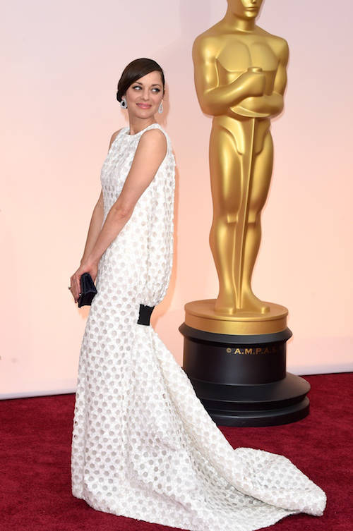 Get The Look: Marion Cottilard's Modern White Oscars 2015 Dress