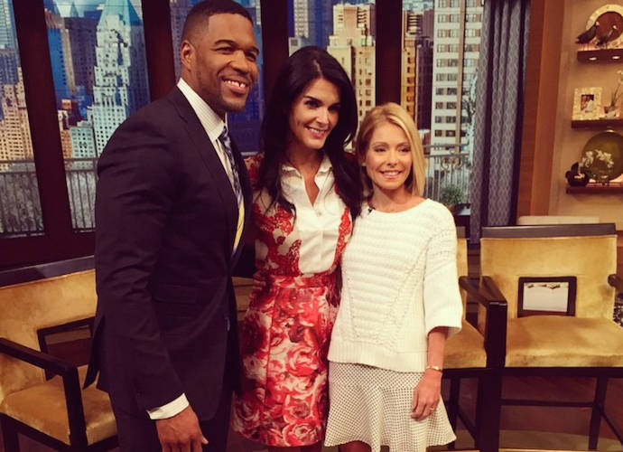 Angie Harmon Jokes About Wardrobe Malfunction On 'Live With Kelly And Michael'