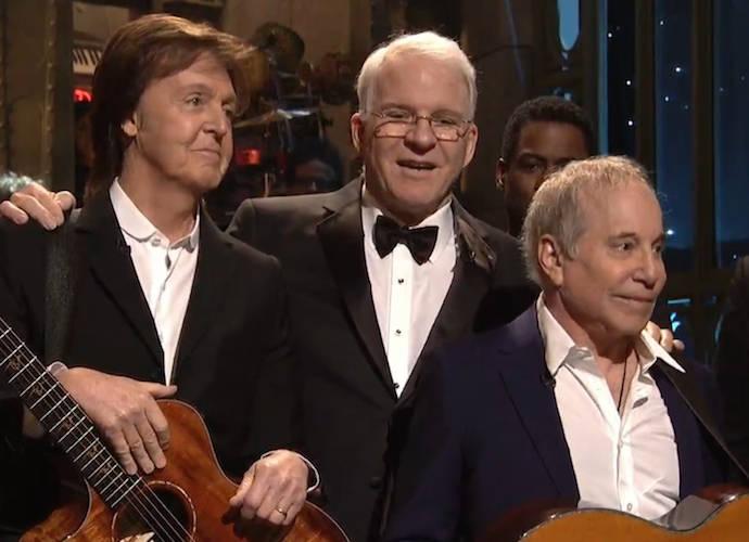 Paul McCartney And Paul Simon Perform For 'SNL 40'