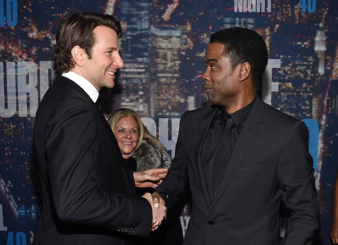 Bradley Cooper, Chris Rock Shake Hands On 'SNL 40' Red Carpet