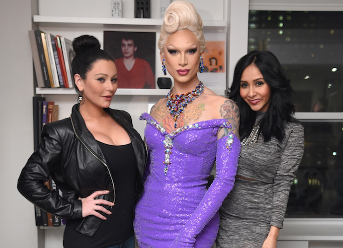 Snooki & JWoww Pose With Miss Fame At 'RuPaul's Drag Race' Premiere