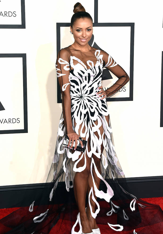 Get The Look: Kat Graham's Grammy 2015 Illusion Dress
