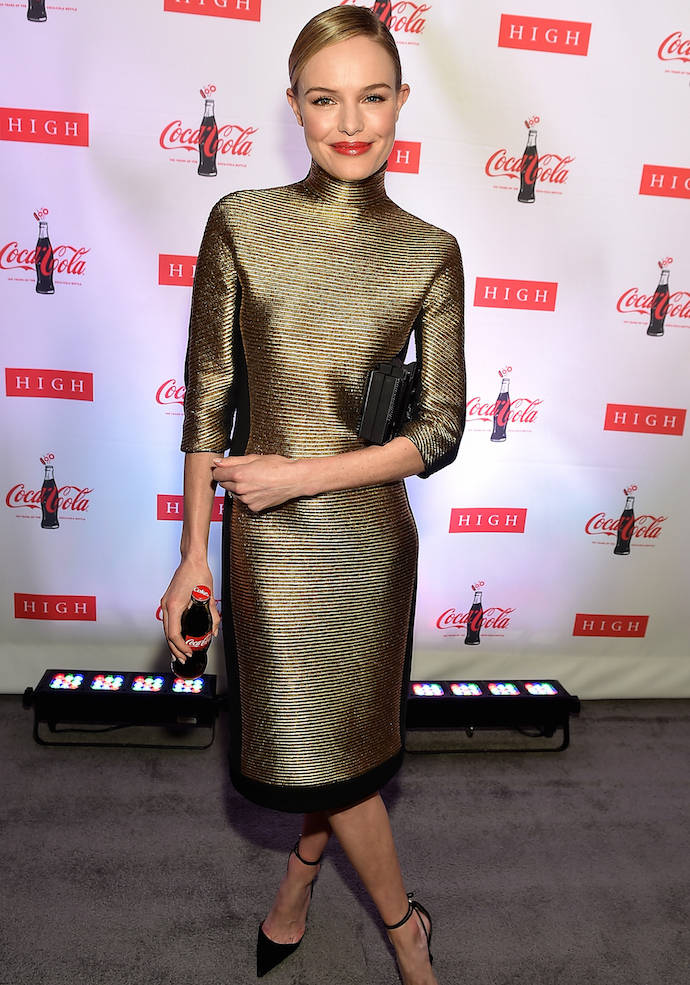 Kate Bosworth Rocked A Metallic Number To Coca Cola Event
