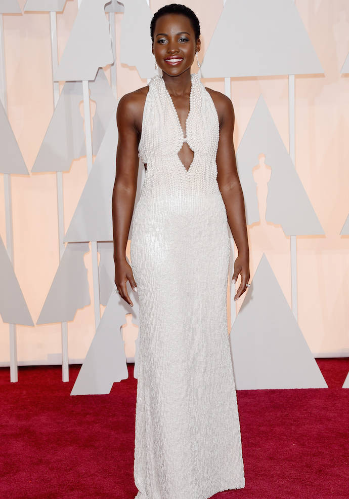 Get The Look: Lupita Nyong'o's Beaded Calvin Klein Oscars 2015 Dress