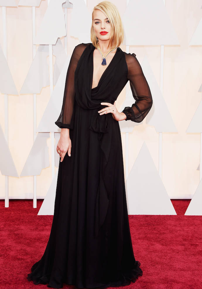 Get The Look: Margot Robbie In Saint Laurent At The 2015 Oscars