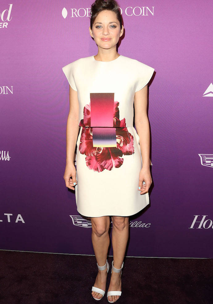 Marion Cotillard Goes With A Mod Look At THR Academy Awards Nominees Night