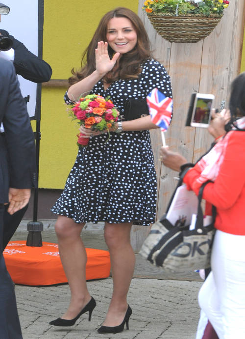 Get The Look For Less Kate Middleton 39 S Thrifty Polka Dot