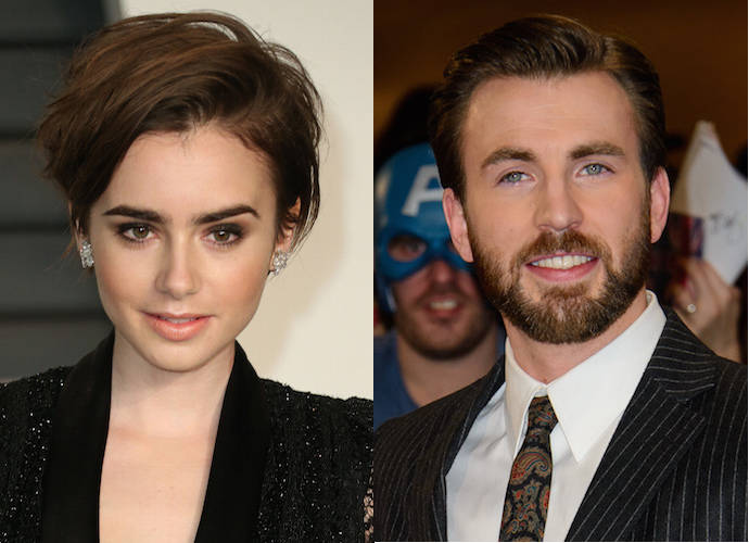 Chris evans dating lily collins