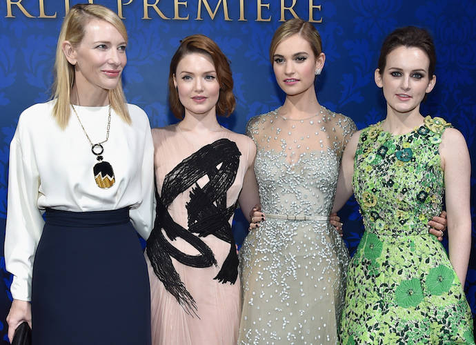 Cate Blanchett, Holliday Grainger, Lily James &Sophie McShera Strike A Pose At 'Cinderella' Premiere