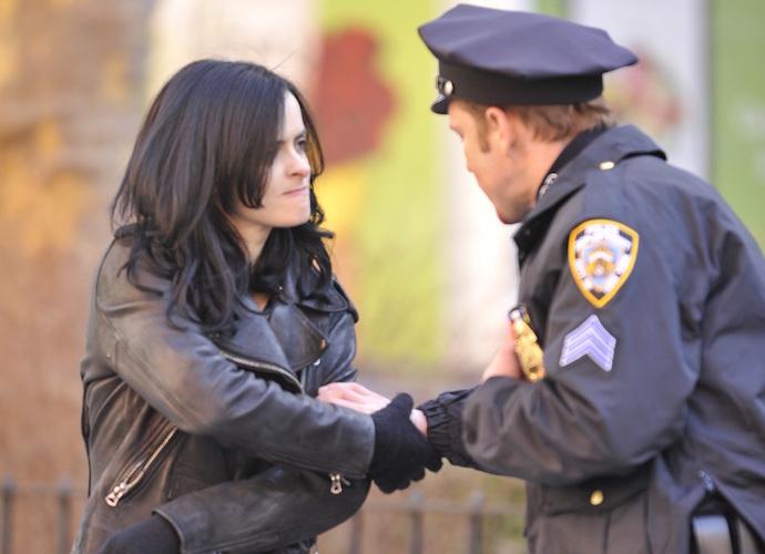 Krysten Ritter Films 'Jessica Jones' In NYC