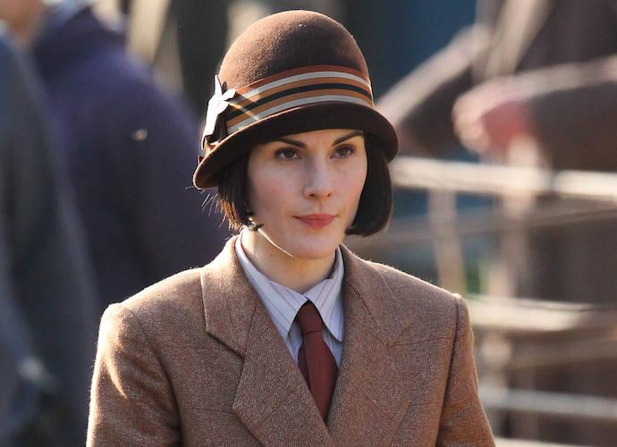 Michelle Dockery Films Scenes For 'Downton Abbey'