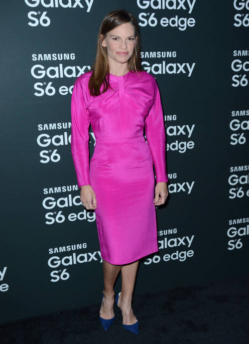 Get The Look For Less: Hilary Swank's Bold Hot Pink Dress