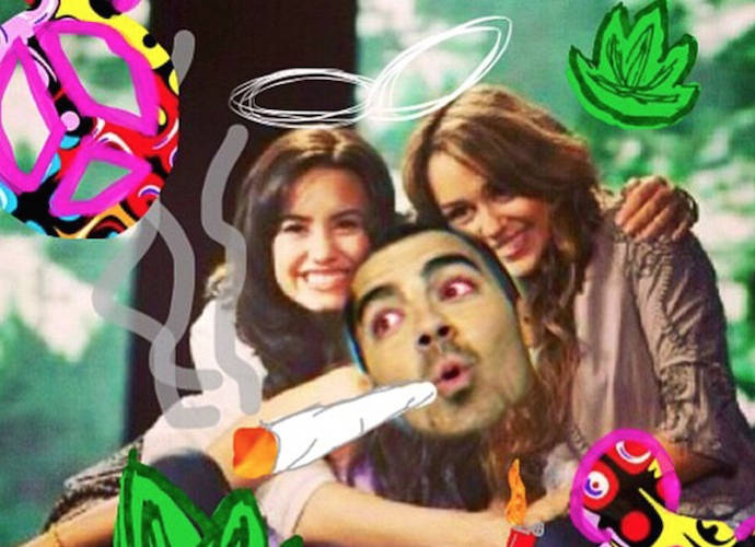 Demi Lovato Celebrates 420 With Hilarious Throwback Photo Of Miley Cyrus And Joe Jonas