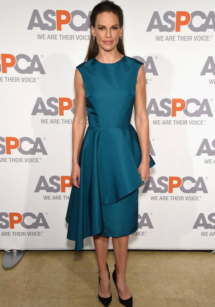 Hilary Swank Looks Glam At ASPCA's Bergh Ball