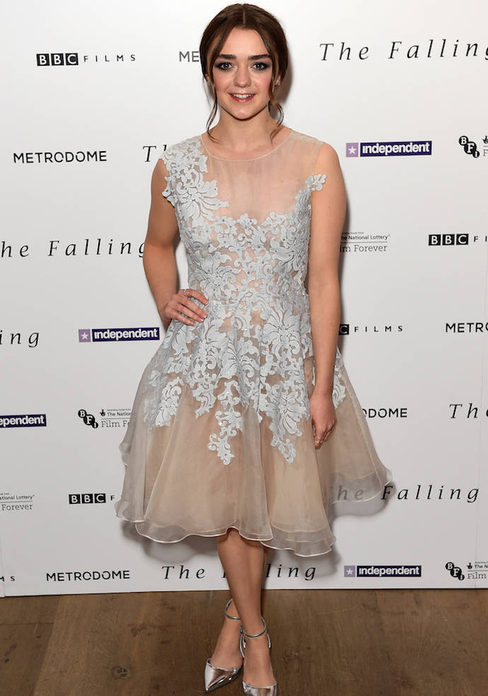Maisie Williams Wears Organza Cocktail Dress To 'The Falling' Screening