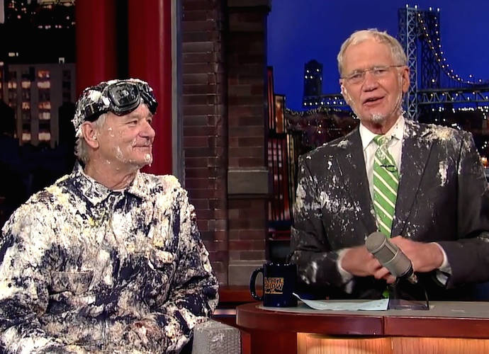 Bill Murray Pops Out Of Cake On 'Late Show With David Letterman'