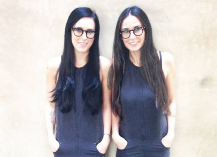 """Rumer Willis Instagrams """"#Twinning"""" Photo With Mom Demi Moore"""