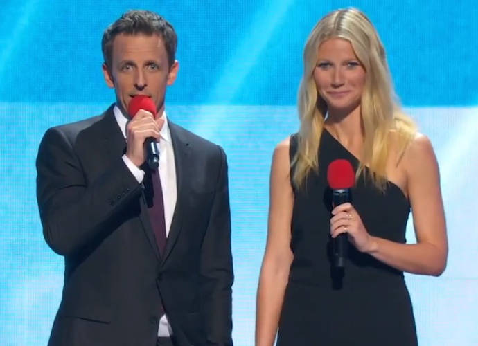 Gwyneth Paltrow Dangles From Ceiling On Red Nose Day Special