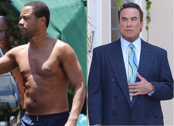 Shirtless Cuba Gooding Jr. And John Travolta Film 'American Crime Story'