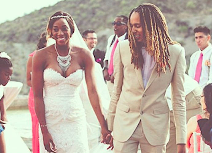 WNBA Stars Brittney Griner And Glory Johnson Wed
