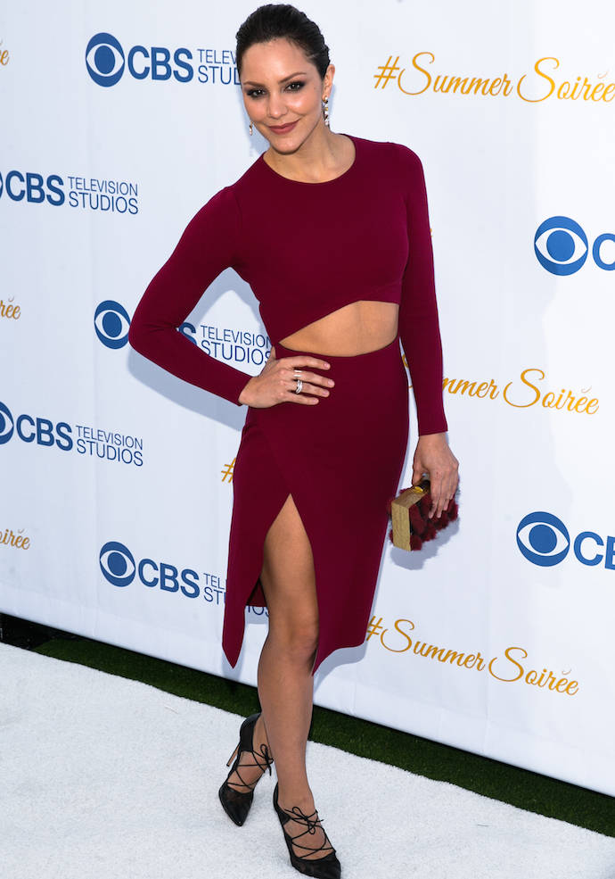Katharine McPhee Looked Chic At CBS' Annual Summer Soiree