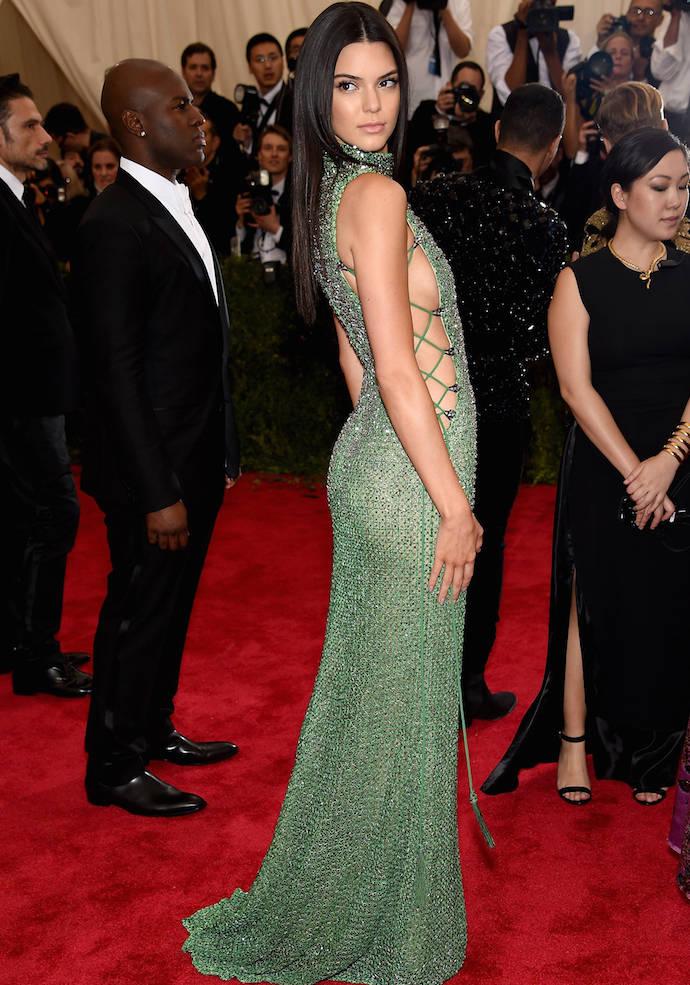 Kendall Jenner Shows Some Sideboob In Met Gala Number